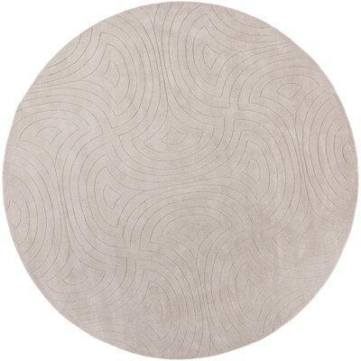 Sculpture Ivory Area Rug Rug Size: Round 8
