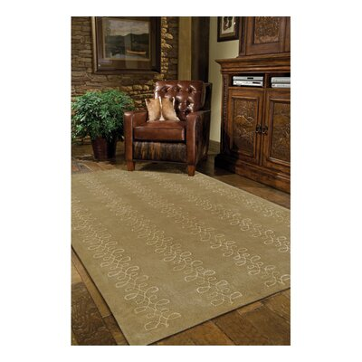 Modern Classics Tan Rug Rug Size: Rectangle 8 x 11