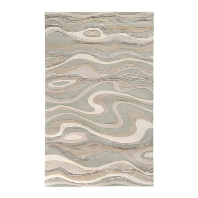 Modern Classics Handmade Gray Area Rug Rug Size: Rectangle 33 x 53