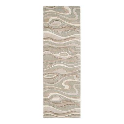 Modern Classics Handmade Gray Area Rug Rug Size: Runner 26 x 8