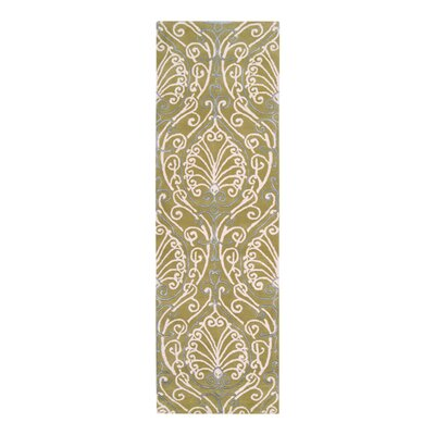 Modern Classics Chartreuse Area Rug Rug Size: Runner 26 x 8