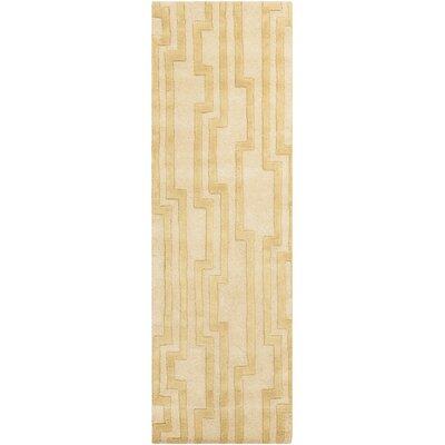 Modern Classics Khaki Area Rug Rug Size: Runner 26 x 8