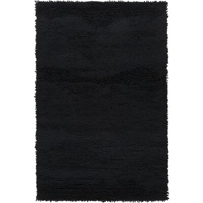 Topography Jet Hand-Woven Black Area Rug