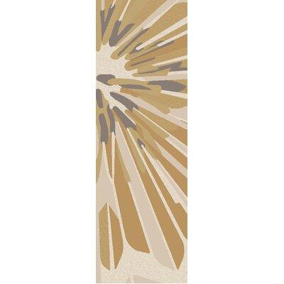 Modern Classics Beige/White Area Rug Rug Size: Runner 26 x 8