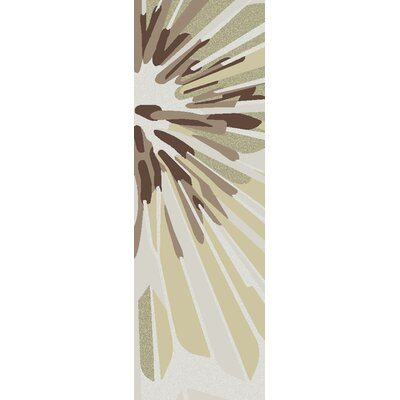 Modern Classics Oyster Gray/Brown Area Rug Rug Size: Runner 26 x 8