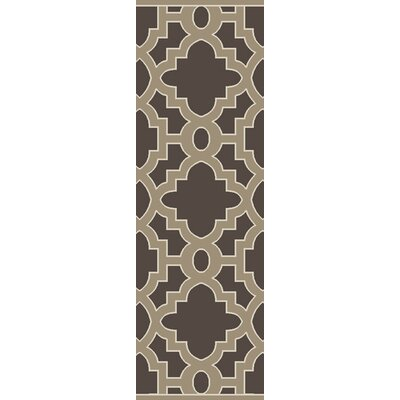 Modern Classics Charcoal/Light Brown Area Rug Rug Size: Runner 26 x 8