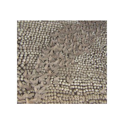 Butterfly Brown Sugar Area Rug Rug Size: 2 x 3