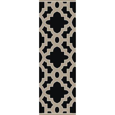 Modern Classics Coal Black Area Rug Rug Size: Runner 26 x 8