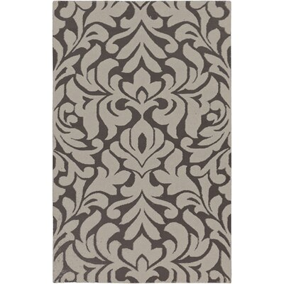 Market Place Hand-Woven Gray/Ivory Area Rug Rug Size: Rectangle 2 x 3