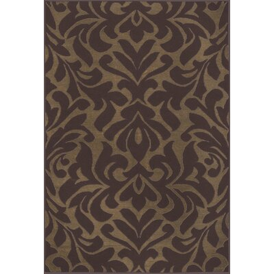 Market Place Raw Umber Brown Area Rug Rug Size: 5 x 8