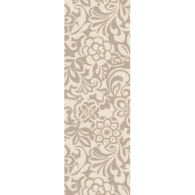Modern Classics Winter White/Parchment Area Rug Rug Size: Runner 26 x 8