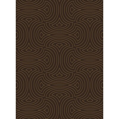 Luminous Dark Brown Area Rug Rug Size: 8 x 11