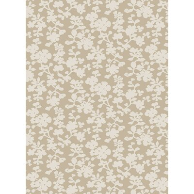 Luminous Ivory Floral Area Rug Rug Size: Rectangle 2 x 3