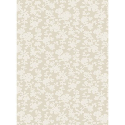 Luminous Peach Cream Floral Area Rug Rug Size: 5 x 8