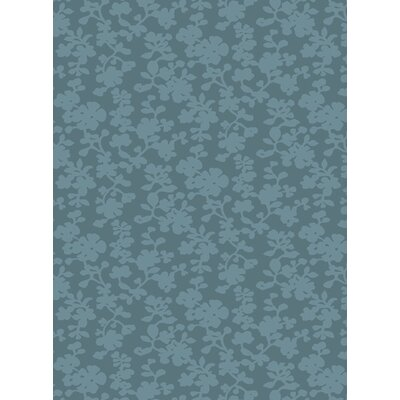 Luminous Sea Blue Floral Area Rug Rug Size: Rectangle 2 x 3