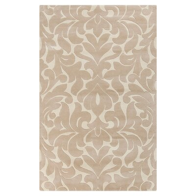 Modern Classics Hand-Tufted Light Brow/Cream Area Rug Rug Size: 2 x 3
