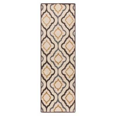 Modern Classics Ivory Area Rug Rug Size: Runner 26 x 8