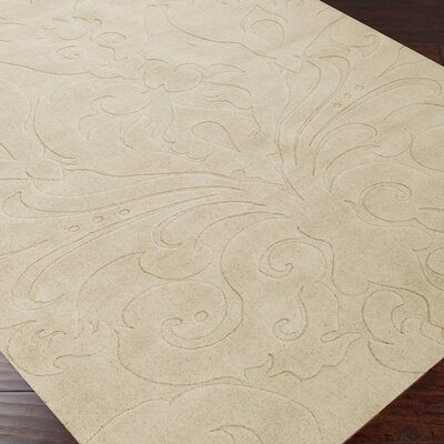 Sculpture Square Tan Rug Rug Size: 8' x 11'