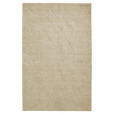 Sculpture Square Tan Rug Rug Size: 3'3