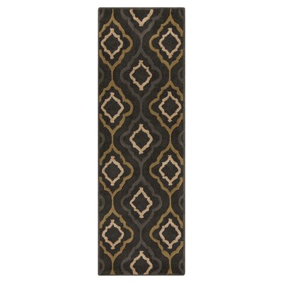 Modern Classics Midnight Green Area Rug Rug Size: Runner 26 x 8