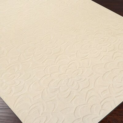 Sculpture Ivory Floral Area Rug Rug Size: Rectangle 9 x 13