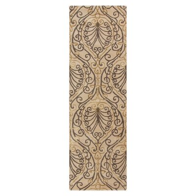 Modern Classics Taupe Area Rug Rug Size: Runner 26 x 8