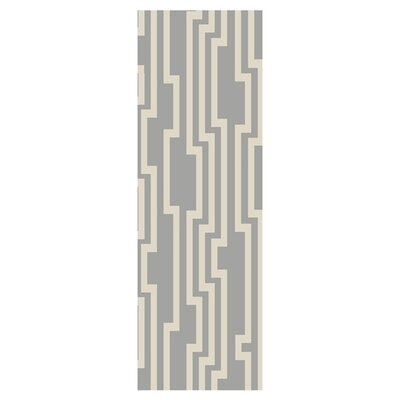 Modern Classics Flint Gray Area Rug Rug Size: Runner 26 x 8