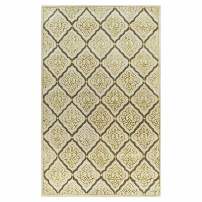 Modern Classics Yellow/Ivory Area Rug Rug Size: 2 x 3