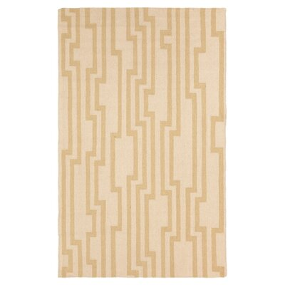 Market Place Parchment Brown/Tan Area Rug Rug Size: 36 x 56