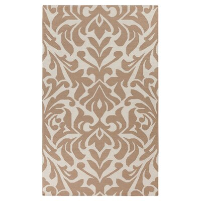 Market Place Praline White/Brown Area Rug Rug Size: 8 x 11