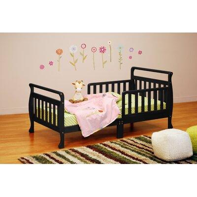 Alessandra Toddler Sleigh Bed Color: Black