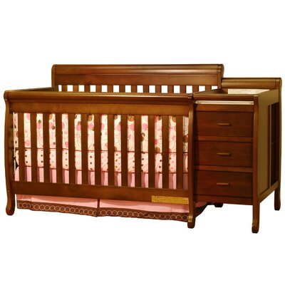 Ashlee Athena Kimberly 3-in-1 Convertible Crib Combo Finish: Espresso 518E