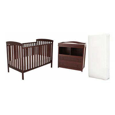 Berenice Crib and Changer Combo with 150 Coil Mattress Finish: Espresso VVRE2710 38322433