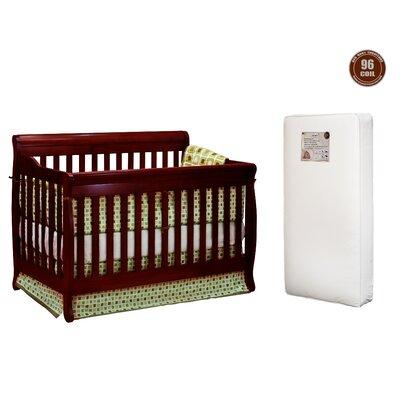 Jaden 2-in-1 Convertible Crib with Mattress Finish: Cherry VVRE2704 38322421