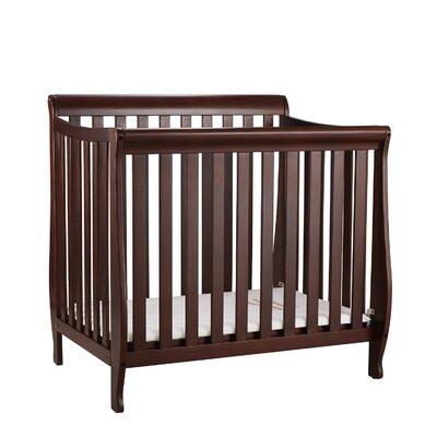 Jaden Mini Crib with Mattress Pad Finish: Espresso VVRE2699 38322413