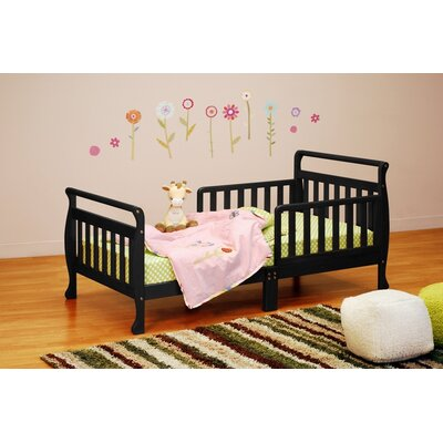 Jaden Toddler Sleigh Bed Finish: Black