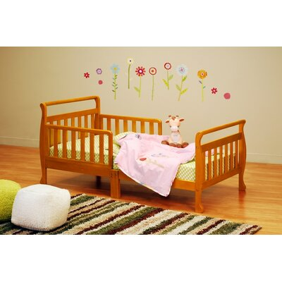 Jaden Toddler Sleigh Bed Finish: Pecan