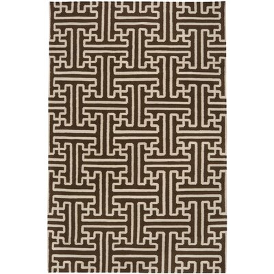Archive Brown/Ivory Area Rug Rug Size: 36 x 56