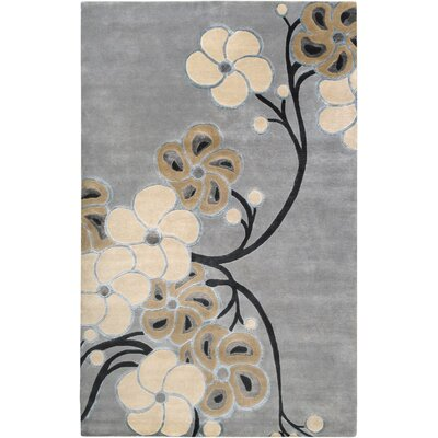 Heritage Gray Blue Area Rug Rug Size: Rectangle 2 x 3