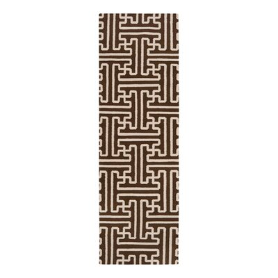 Archive Brown/Ivory Area Rug Rug Size: Runner 26 x 8