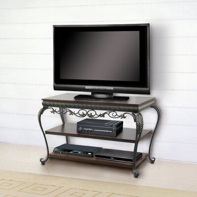 Buy Low Price DeFi AV Apelton 37″ TV Stand in Navarre Gold and Antique Walnut (DFV1010)