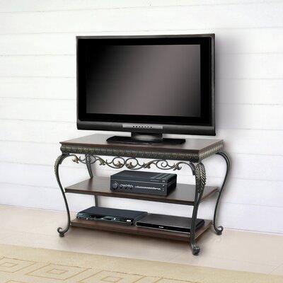 Buy Low Price DeFi AV Apelton 37″ TV Stand in Navarre Gold and Antique Walnut (DFV1010)