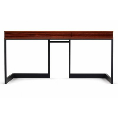 Wishbone Writing Desk with 3 Drawer Finish: Walnut Product Image 1540
