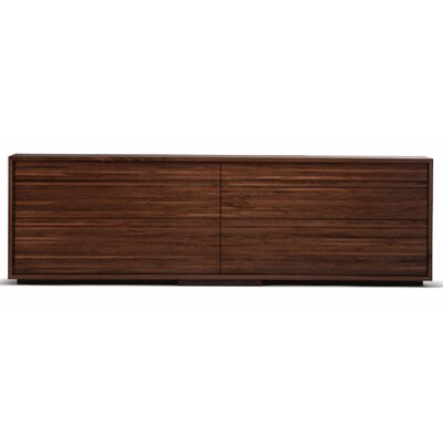 Lineground 6-Drawer Horizontal Dresser Wood Finish: Ebonized Rift White Oak, Drawer Face Material: Wood