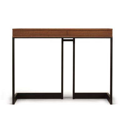Cheap Wishbone 2 Drawer High Dining Table Finish Walnut Veneer for sale