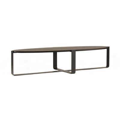Piedmont Elliptical Low Coffee Table Finish: Ebonized Rift White Oak