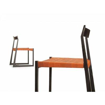 Lineground #2 Side Chair Color: Tan, Color: Ebonized White Oak