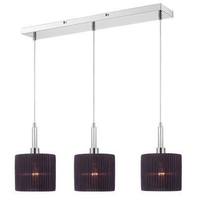 Solal 3-Light Pendant Shade Color: Black