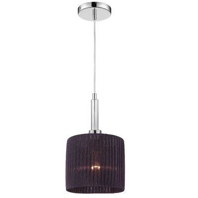Kellar 1-Light Pendant Shade Color: Black