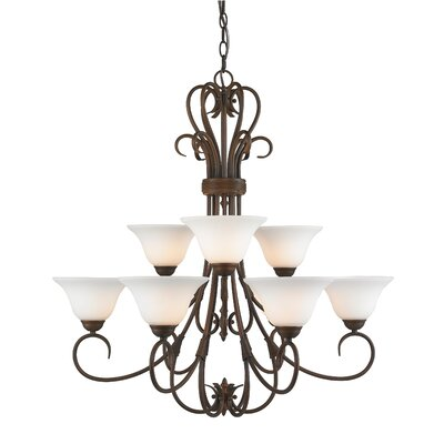 Cleaver Traditional 9-Light Shaded Chandelier